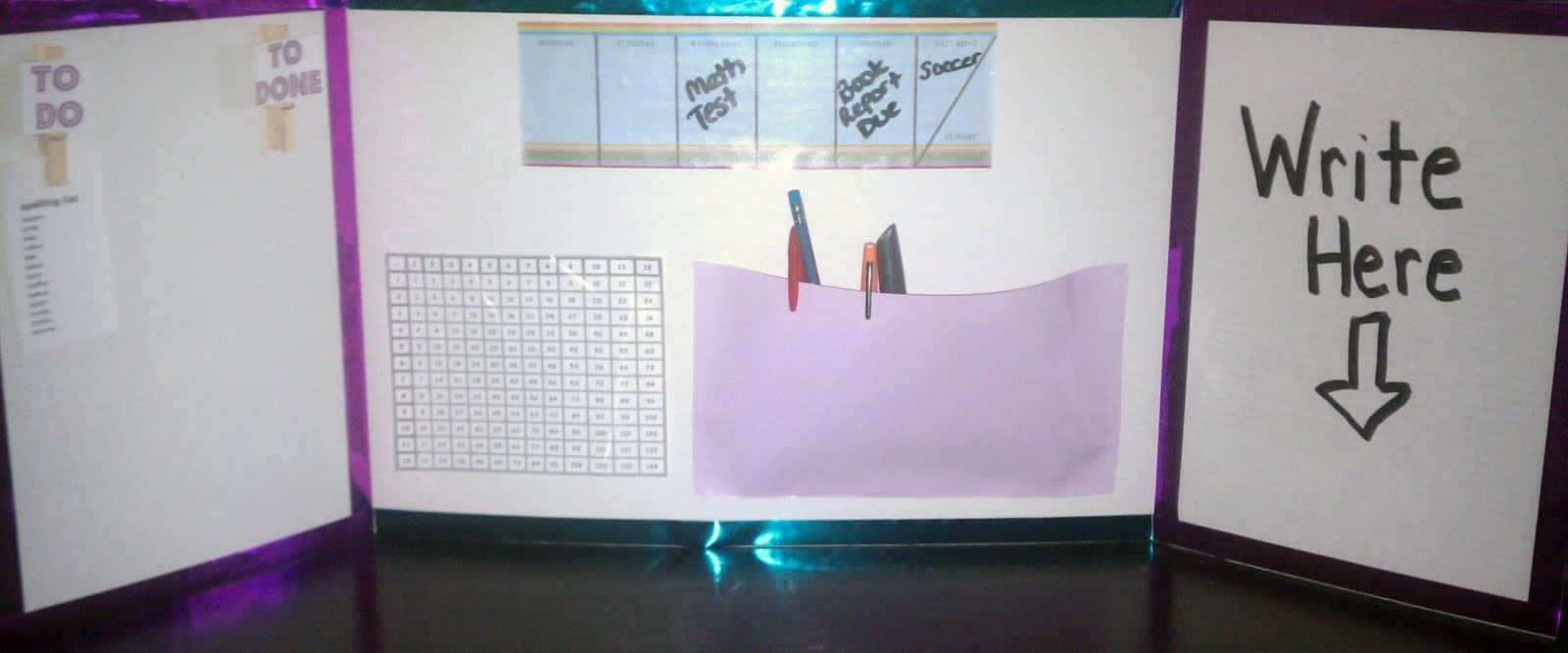 make your own study carrel as the bunny hops - Tri Fold Display Board Design Ideas