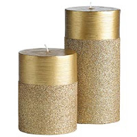 pier 1, pier 1 candle, diy candles, glitter candles, candle gift, sparkle candle