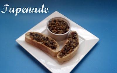 tapenade, olives, spreads, bread, ciabatta, garlic
