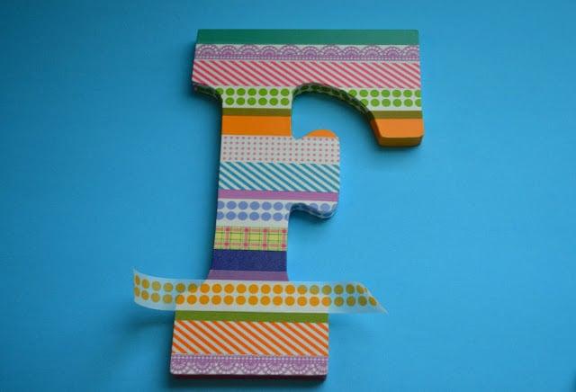 washi tape, letter, tutorial