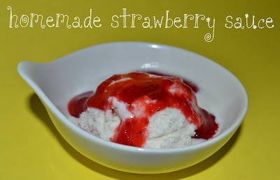 Strawberry Sauce, Homemade, Ice Cream, Toppings, Sundae