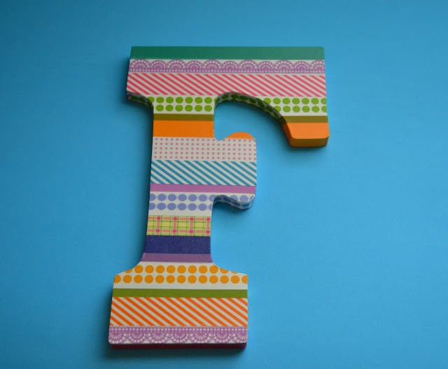 Washi Tape, Letter, Tutorial, Finished Product