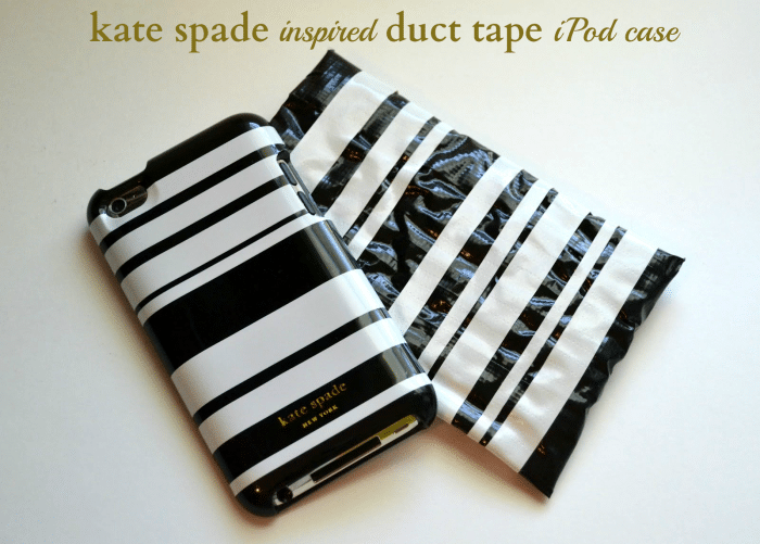 Kate Spade inspired Duct Tape iPod Case