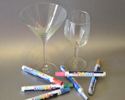 Custom, Party, Glass, Supplies, Elmer's Painters