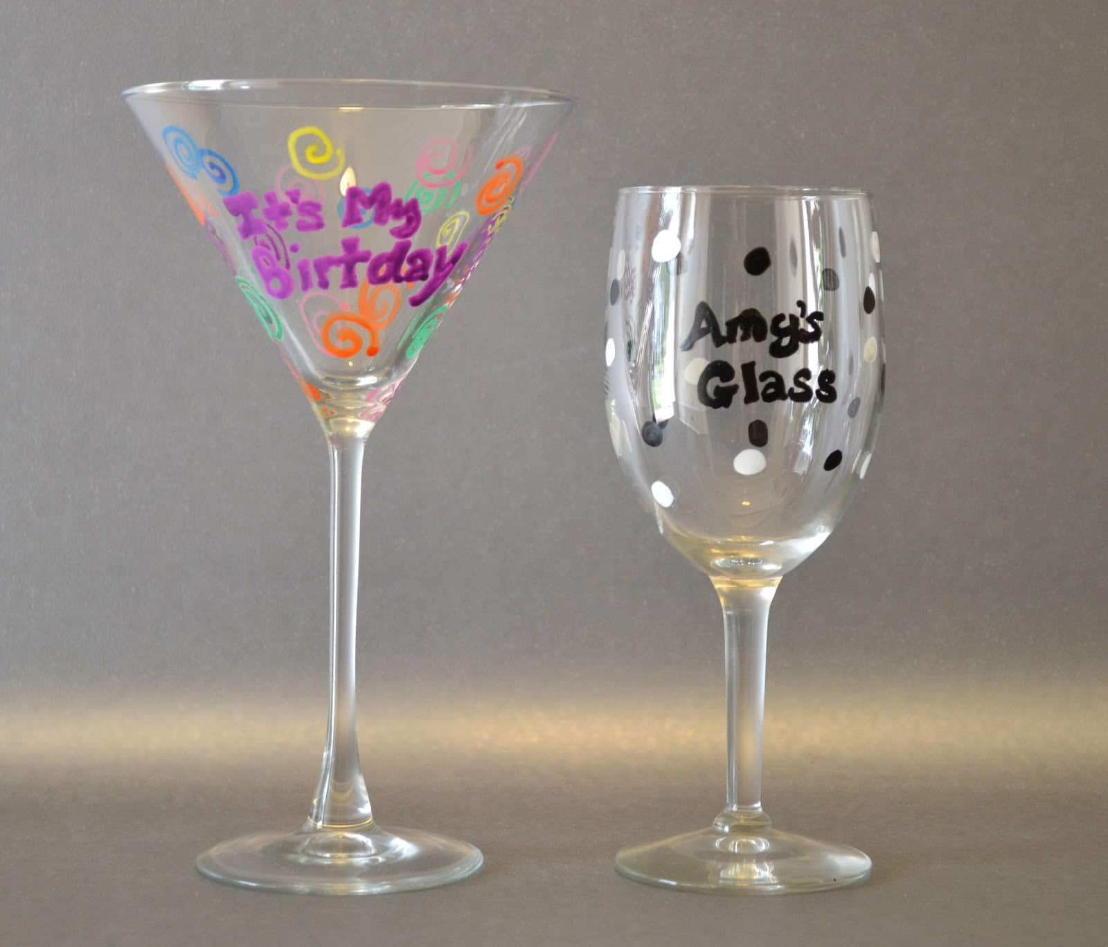 Tutorial Custom Party Glasses With Elmer 39 S Painters As