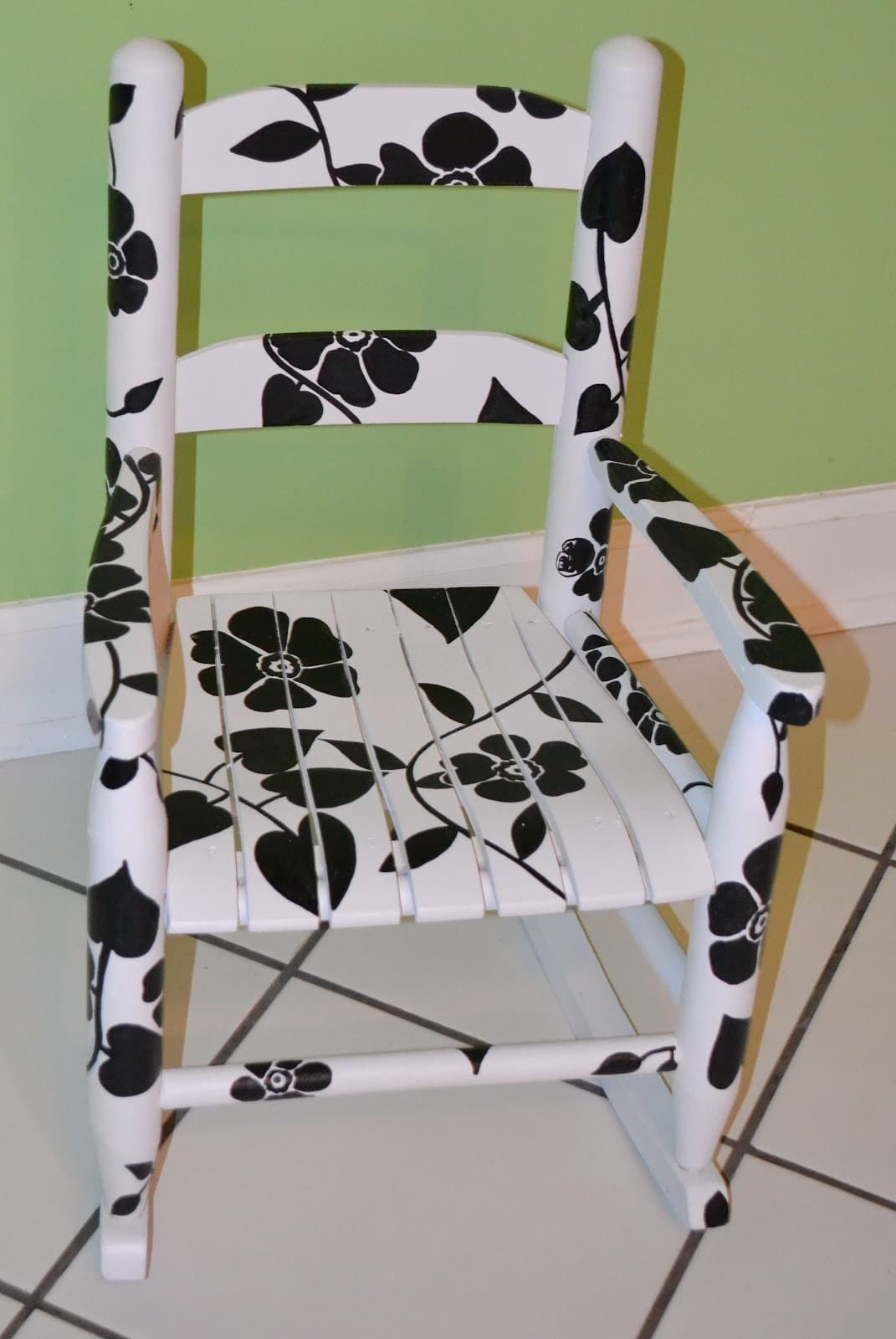 Amazing photo of Tutorial} Hand Painted Rocking Chair As The Bunny Hops® with #80723B color and 1071x1600 pixels