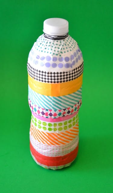 Washi Tape Water Bottle Rain Stick Tutorial