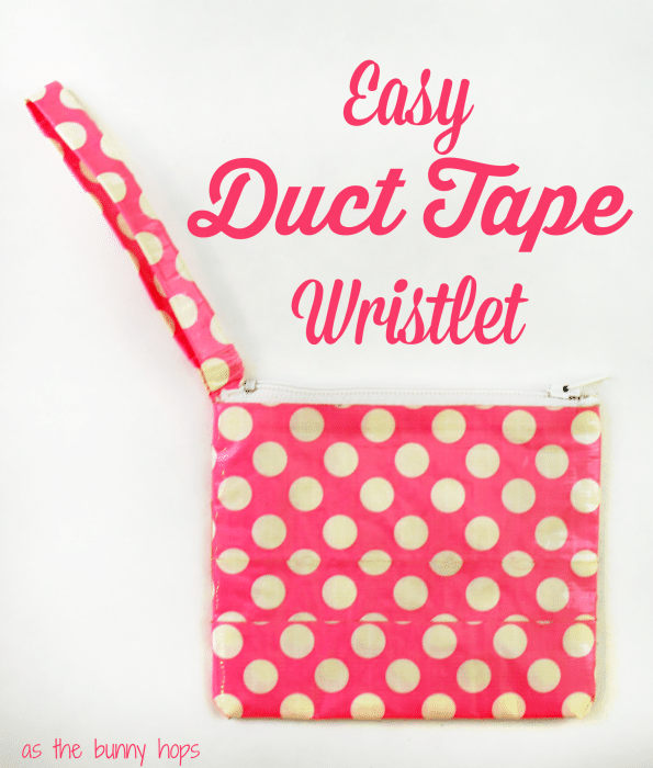 Easy Duct Tape Wristlet
