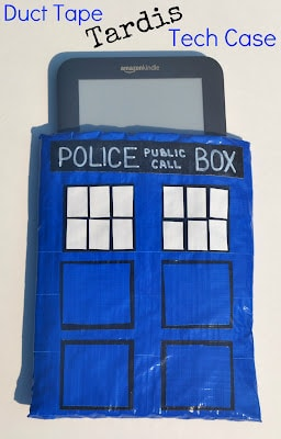 Duct Tape, Tardis, Tech Case, DIY, Tutorial, Doctor Who, Whovian