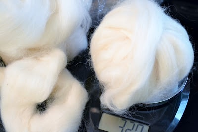 Weighing Wool Roving, Wool Dryer Ball Tutorial