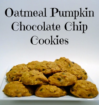 Oatmeal, Pumpkin, Chocolate Chip, Cookies, Brummel & Brown, Yogurt, Healthy, Thanksgiving, Recipe