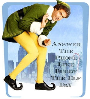 Answer The Phone Like Buddy The Elf Day As The Bunny Hops 174
