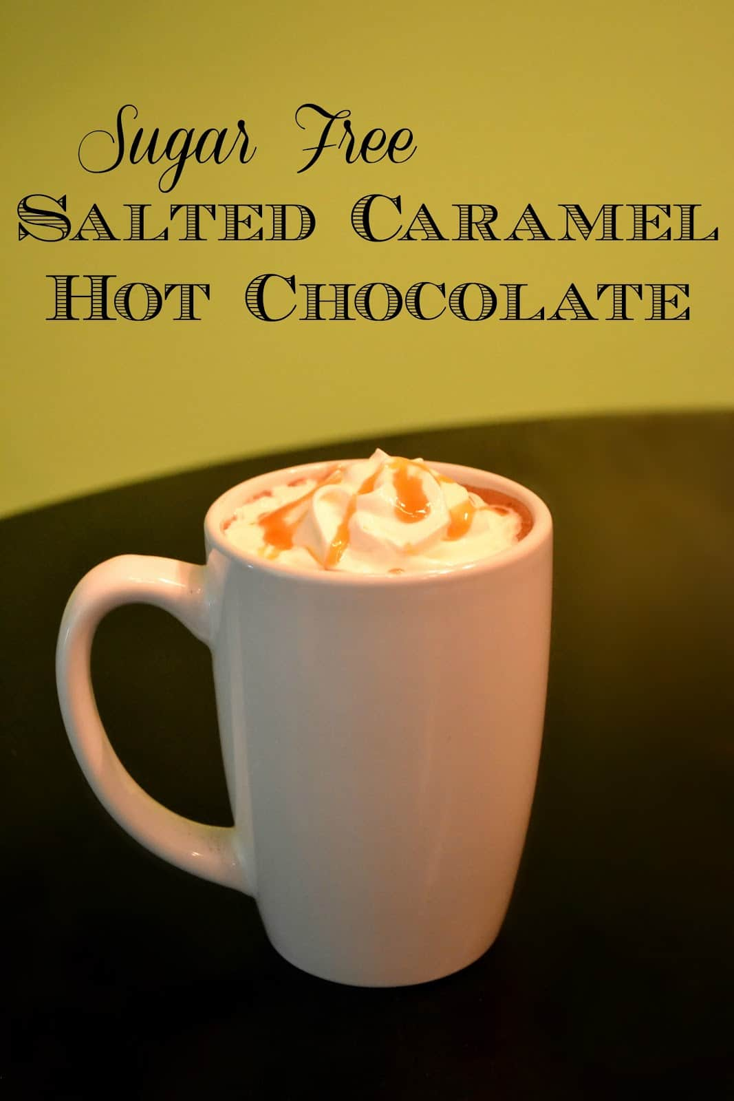 Sugar Free Salted Caramel Hot Chocolate - As The Bunny Hops®