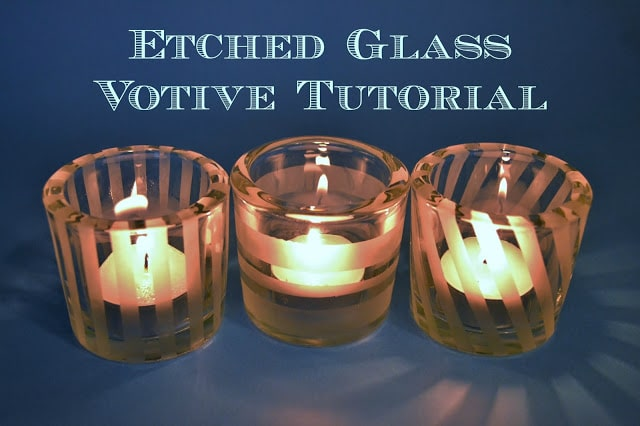 Etched, Glass, Votive, Tutorial, Martha Stewart, Plaid, Crafts