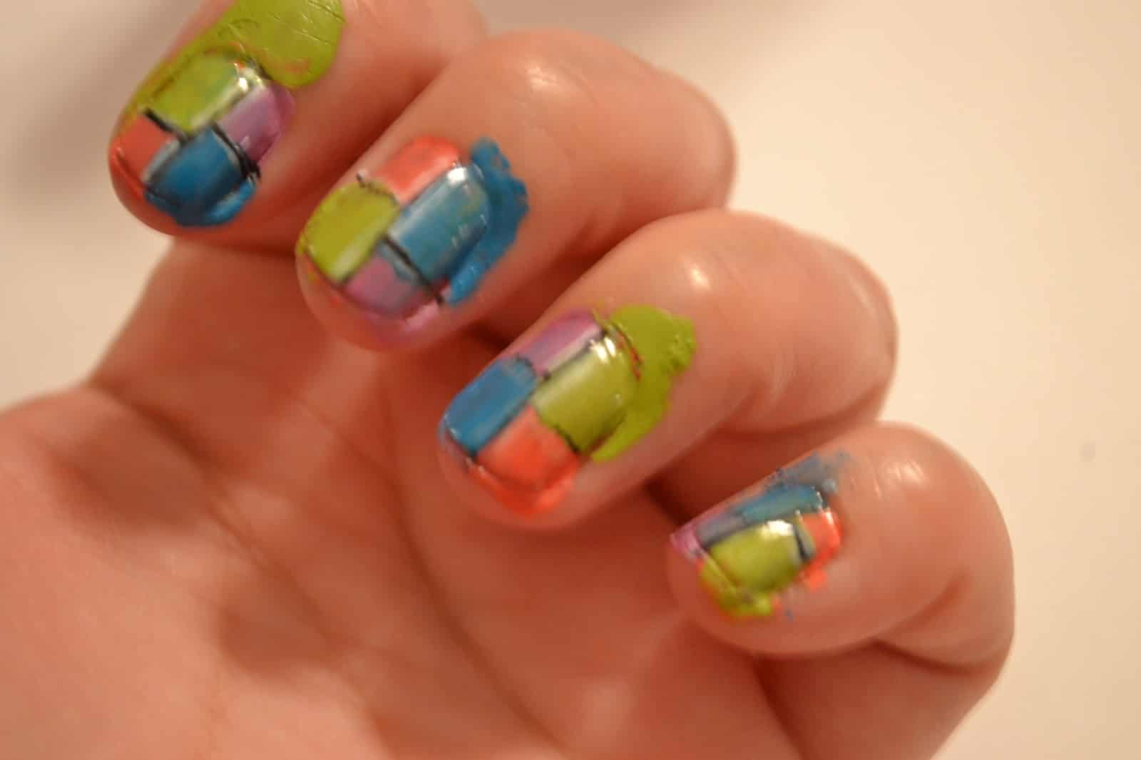 Outstanding Two Color Nail Design Photo Inspiration - Nail Art ...