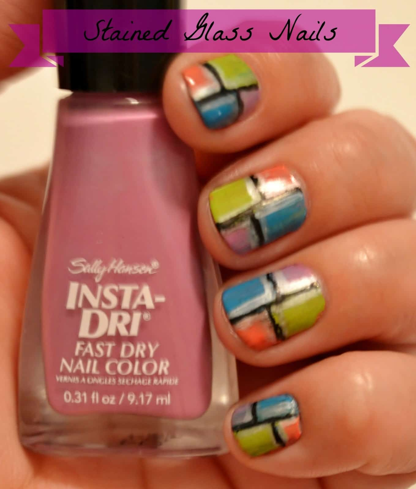 Makeup Monday} Stained Glass Nails - As The Bunny Hops®