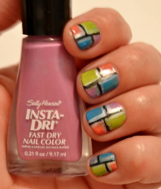 Stained Glass Nail Art: {Makeup Monday} Stained Glass Nails