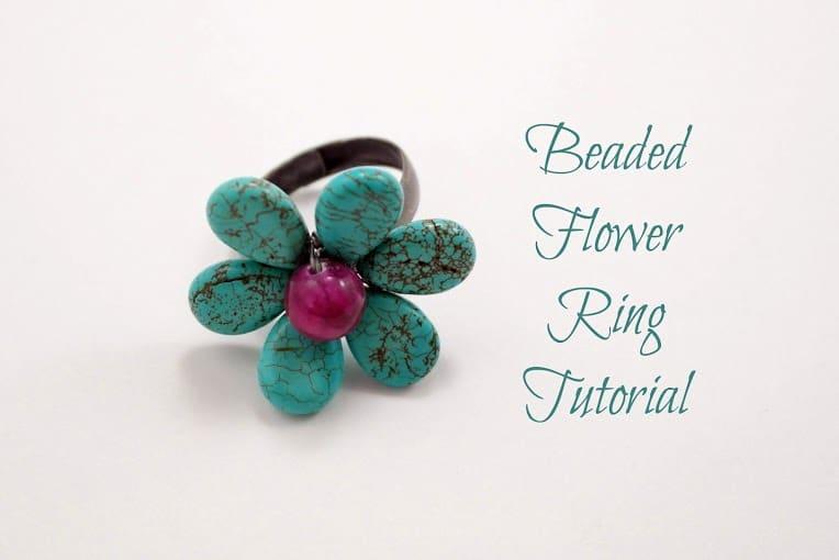 Beaded Flower Ring - As The Bunny Hops®