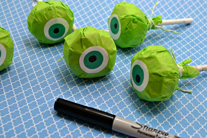 Mike, Monsters University, Eyes, Sharpie, Craft