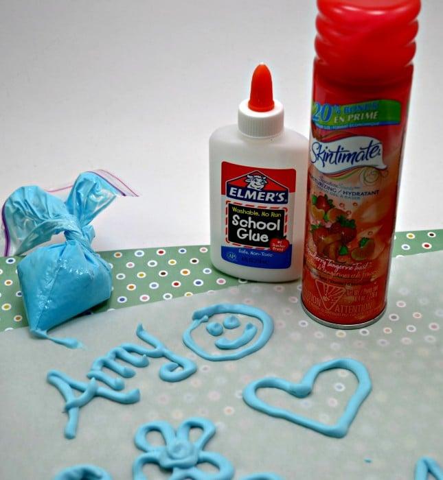 Shaving Cream Puffy Paint
