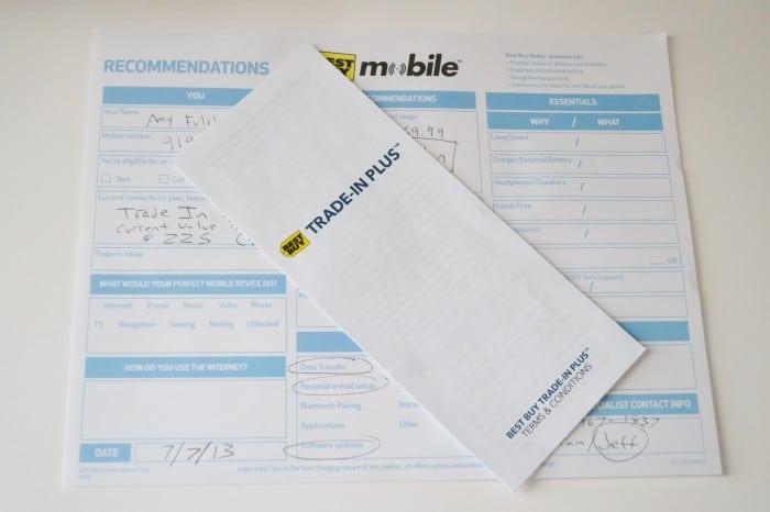 Best Buy Mobile Paperwork