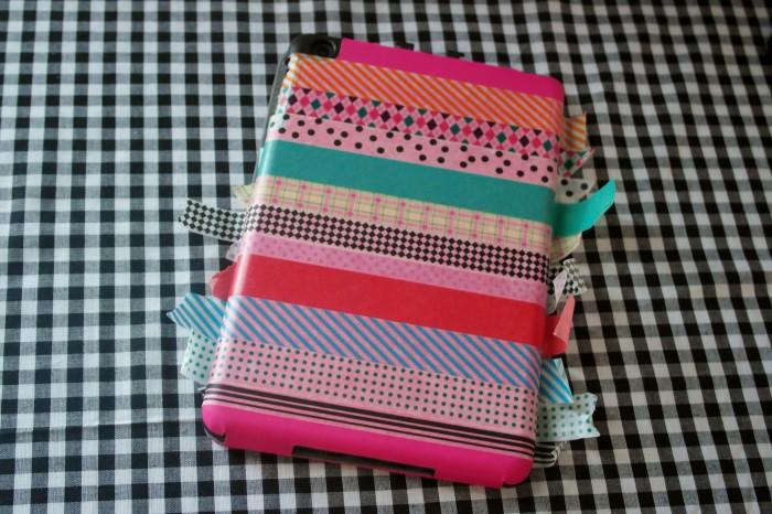 Ipad case with washi tape 700x466