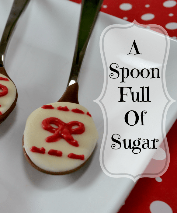 Mary Poppins Inspired Chocolate Spoons