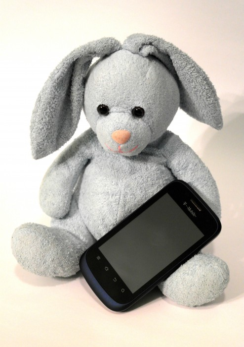 Bunny with Concord Smartphone, #shop