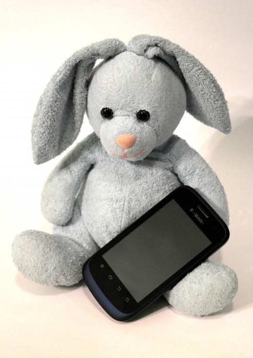 Bunny with Concord Smartphone, #shop