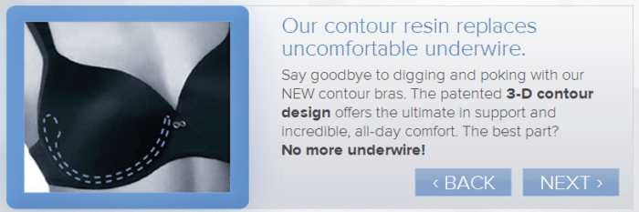 Contour resin replaces traditional underwire