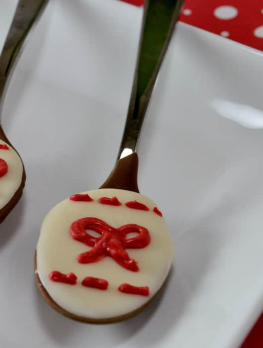 White Dress inspired chocolate spoons