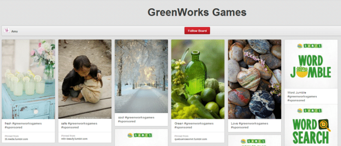 GreenWorks Games Pin Board #sponsored