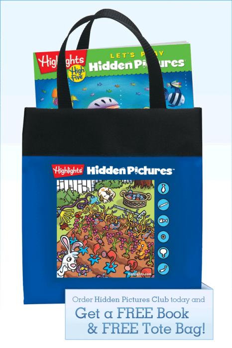Hidden Pictures Tote