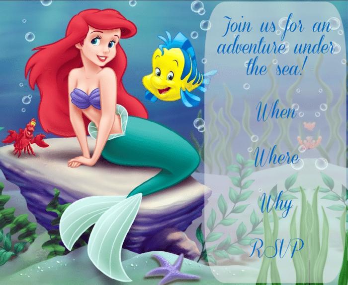 Little Mermaid Invite