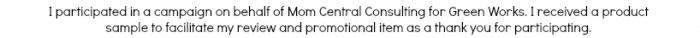 Mom Central Disclosure