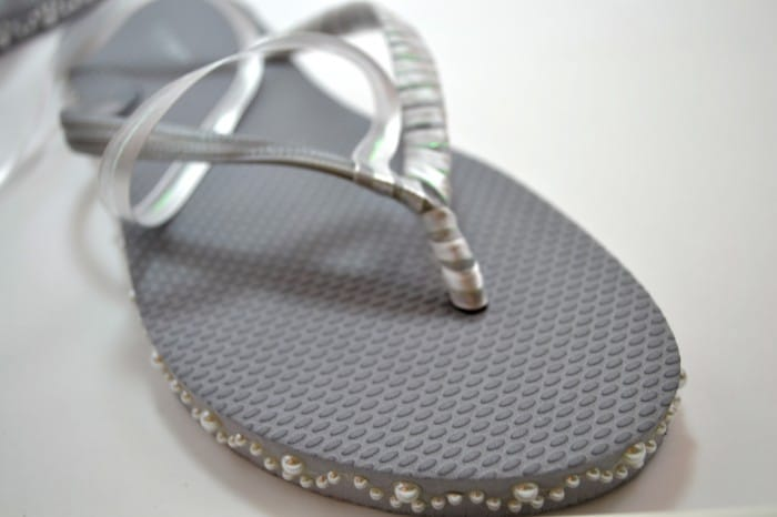Ribbon on Flip Flops
