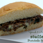 {Recipe} Spinach and Artichoke Stuffed Portobello Burger