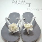 {Tutorial} 30 Minute Wedding Flip Flops