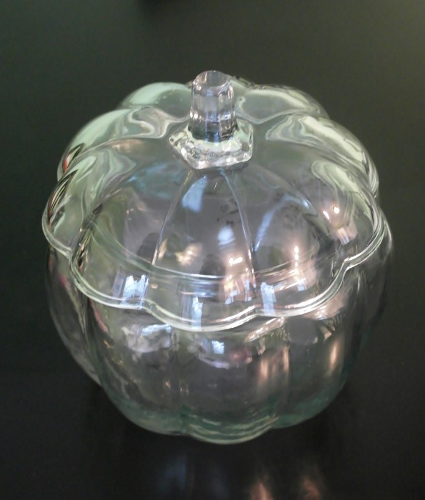 Glass Pumpkin for Mercury Glass Project