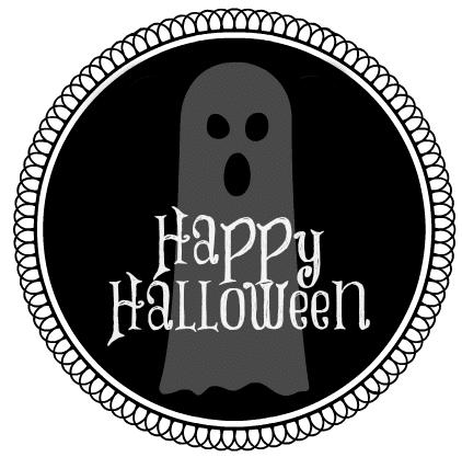 Happy Halloween Printable Ghost Label