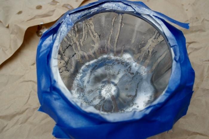 Mercury Glass Pumpkin Bottom