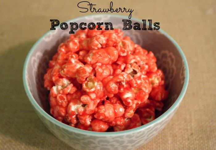 Strawberry Popcorn Balls