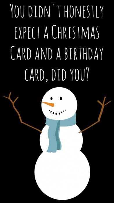 Christmas Birthday Card #shop