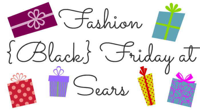 Fashion Black Friday at Sears