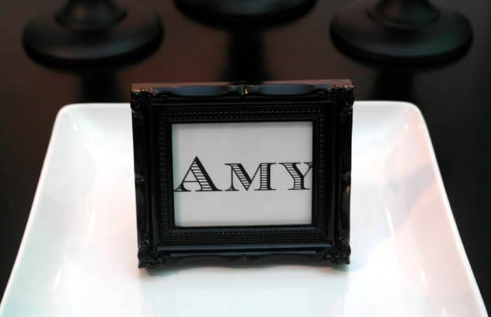 Frame Placecard Holder