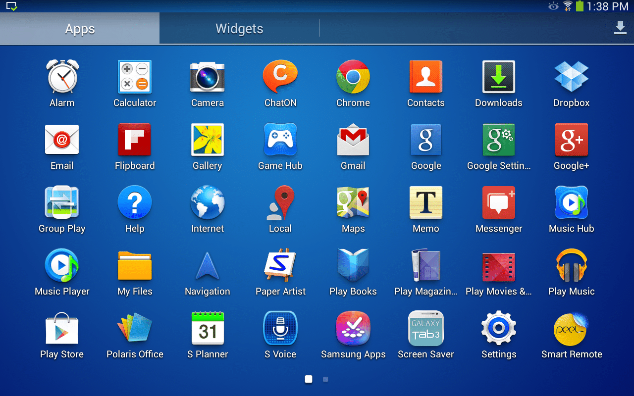 apps samsung tablet