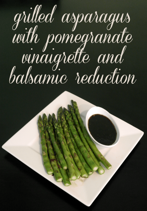 Grilled Asparagus with Pomegranate Vinaigrette and Balsamic Reduction #shop