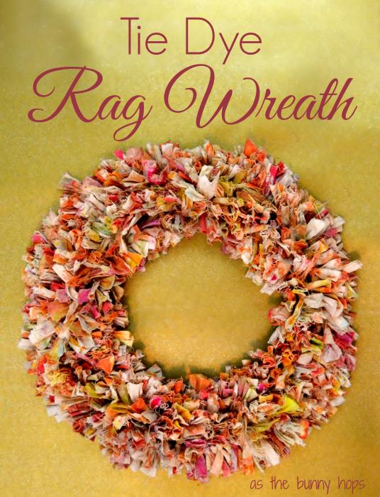 Tie Dye Rag Wreath