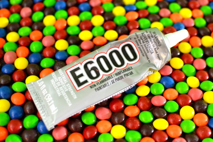 E6000 to glue Skittles #VIPFruitFlavors #collectivebias #shop