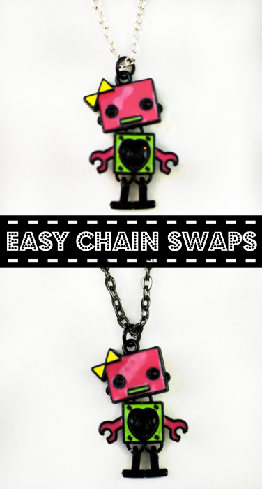 Update a pendant with this easy way to swap out a chain!